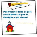 Prontuario delle regole anti-COVID 19 per le famiglie e gli alunni